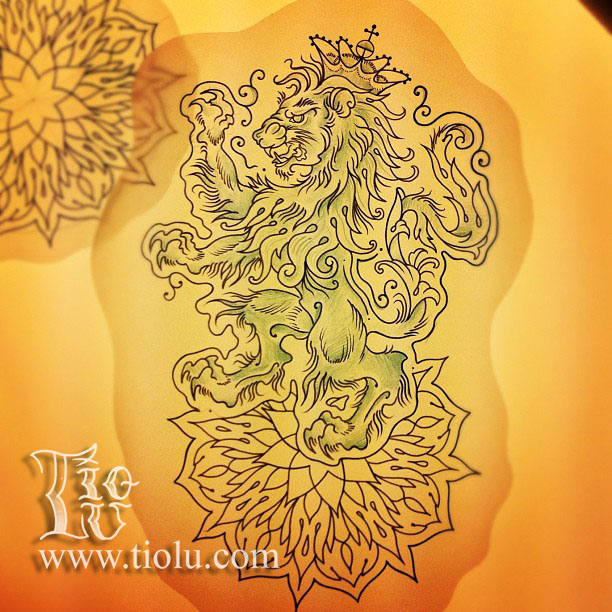 Lion with Mandala
