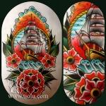 Ship & Flowers