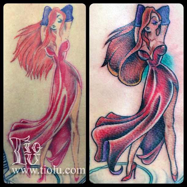 Jessica Rabbit Before:After