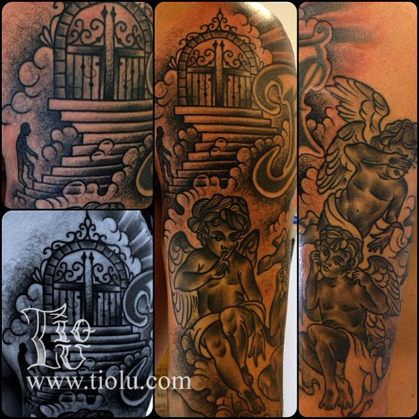 1000 images about stairway to heaven tattoos on pinterest cloud tattoos heaven tattoos and. Black Bedroom Furniture Sets. Home Design Ideas