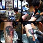 Tiolu in Kingdom Within Tattoo studio