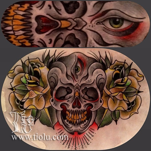 3rd Eye skull and roses