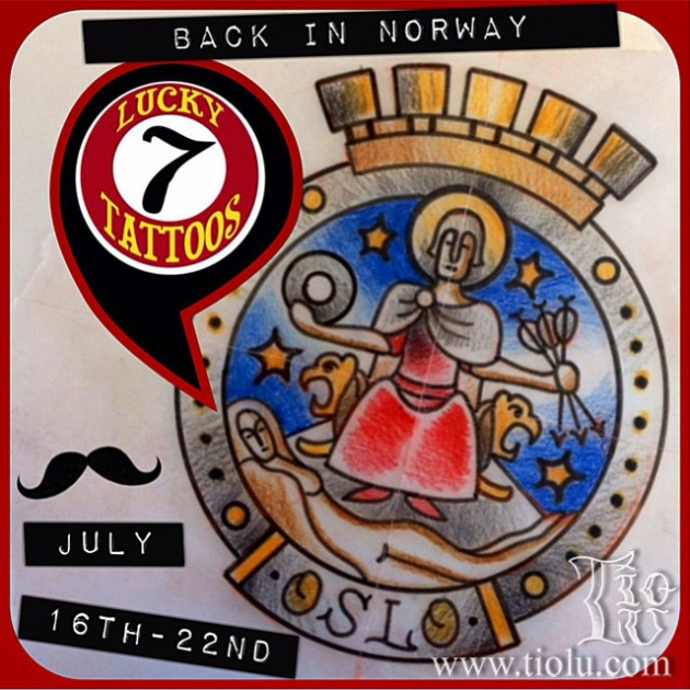 Lucky7 Oslo guest spot July 16th 22nd
