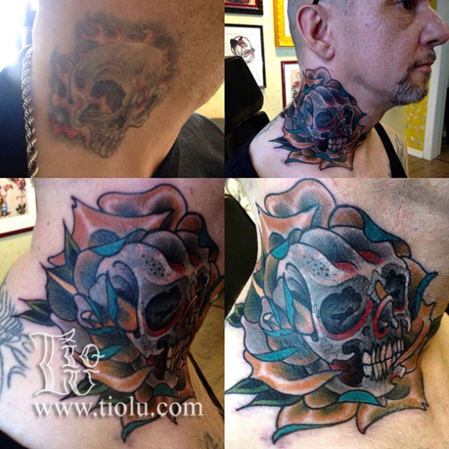 Skull Rose Cover-up