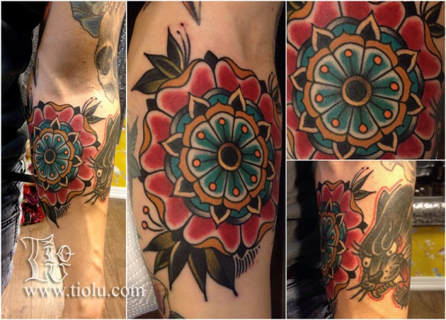 Traditional mandala flower
