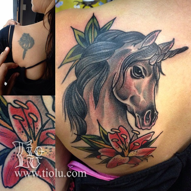 Unicorn with lillie cover-up
