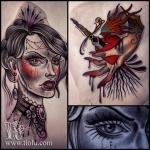Gothic gal & Dagger heart