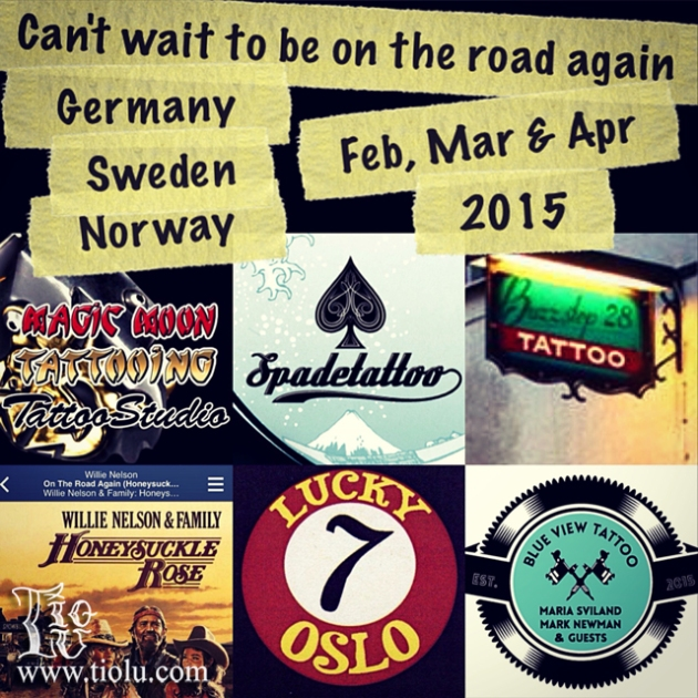 Guest Spots Germany, Sweden & Norway (Feb, Mar & Apr 2015)