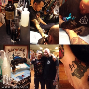 Geting tattoos by the talented Morton from L7 Oslo