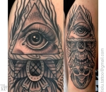 All seeing eye Skull