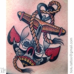 Love anchor skull