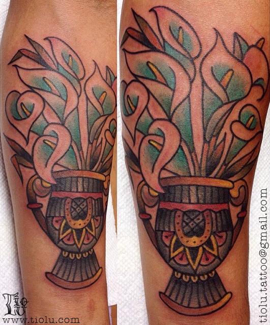 Alcatraz Flowers Vase Tattoos By Tiolu