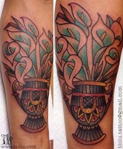 Alcatraz flowers vase